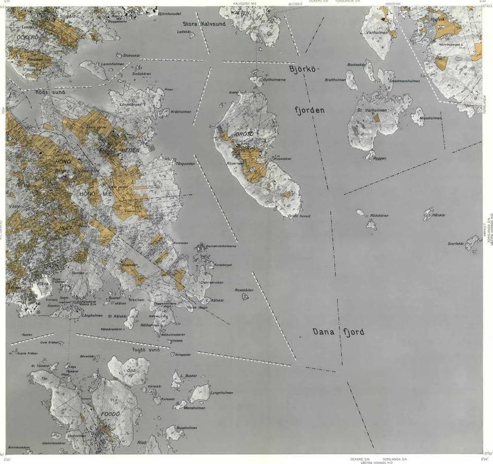 karta bohus björkö Öckerö J131 9SO
