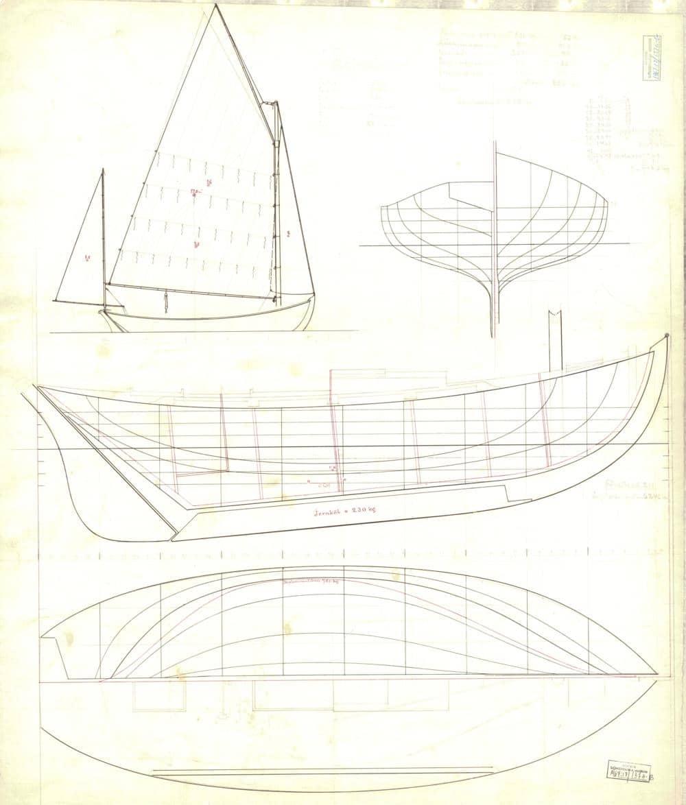 tvåmastad segelbåt