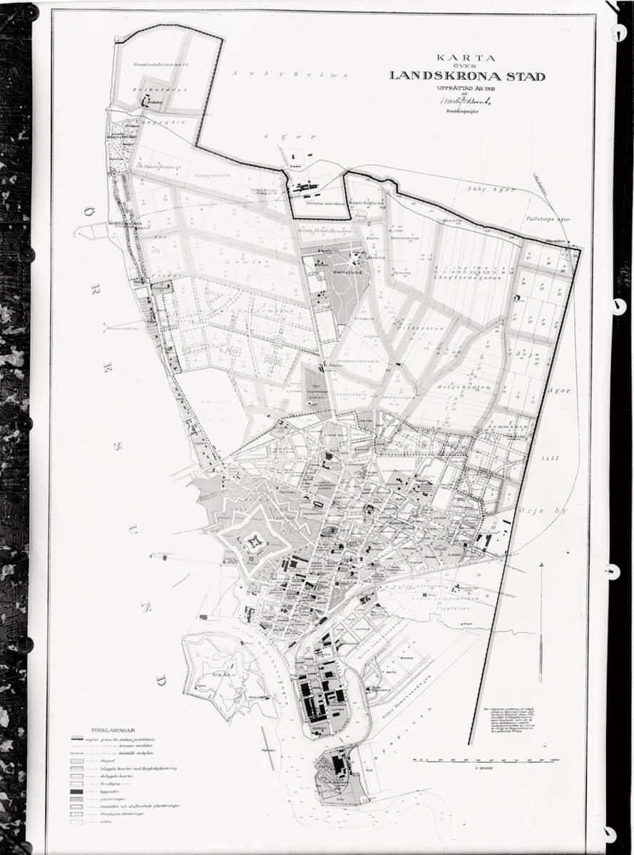 karta landskrona stad Karta över Landskrona