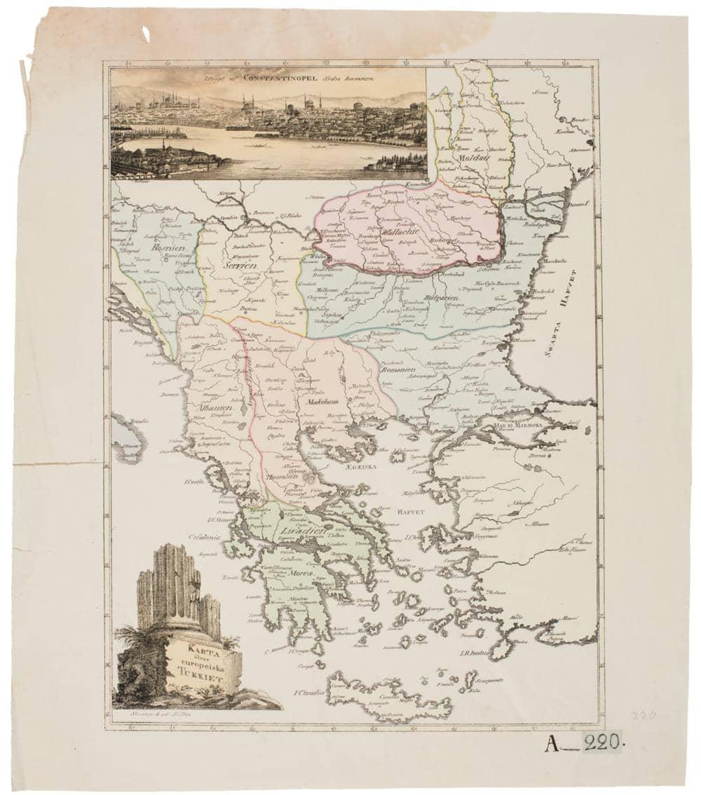 Karta Europa Turkiet.Karta Ofver Europeiska Turkiet Pa Arkivkopia